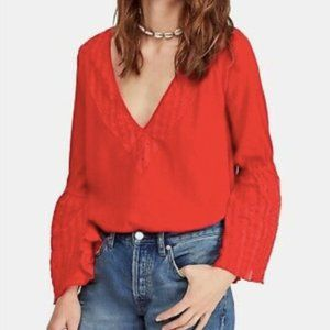 NWT Free People Vermillion Top in Red